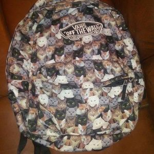 Vans cat print backpack